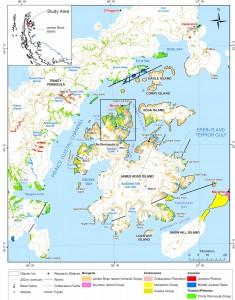 Geological map of James Ross Island, NE Antarctic Peninsula, showing the Ulu Peninsula study area (box).