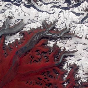 Surging glaciers in Alaska