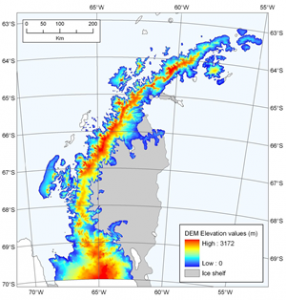 Antarctic Peninsula 100 m DEM. Cook et al., 2012.
