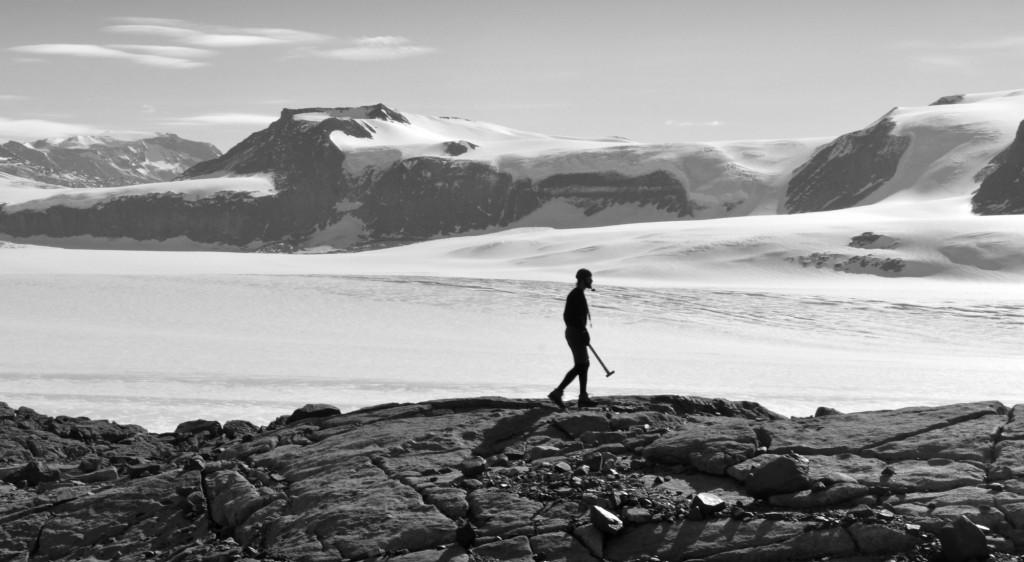 Ice-moulded bedrock near Mackay Glacier, East Antarctica