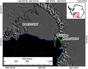 Mackay Glacier in East Antarctica