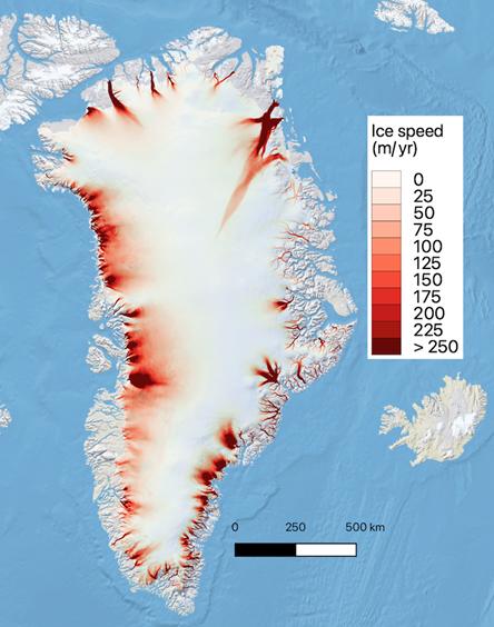 Ice velocity, Greenland Ice Sheet